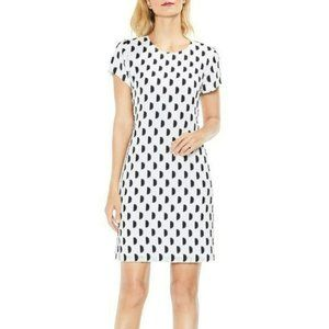 Vince Camuto Jacquard Dot Clip Shift Dress